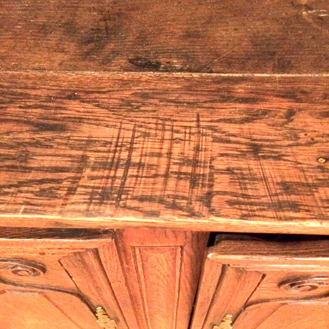 French Provincial Antique Buffet - Image 8 of 8