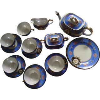 Vintage Japanese Hand-Painted Tea Set - 20 Pieces