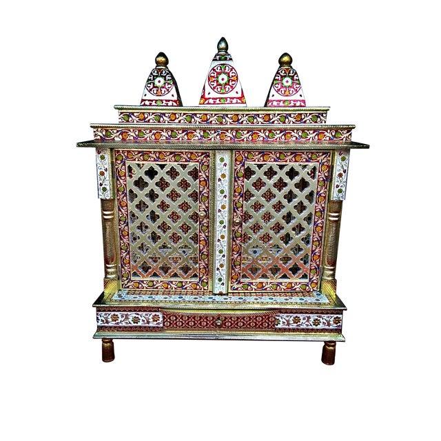 Meenakari Hindu Temple Mandapam Altar - Image 1 of 3