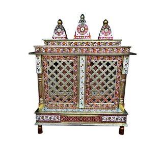Meenakari Hindu Temple Mandapam Altar