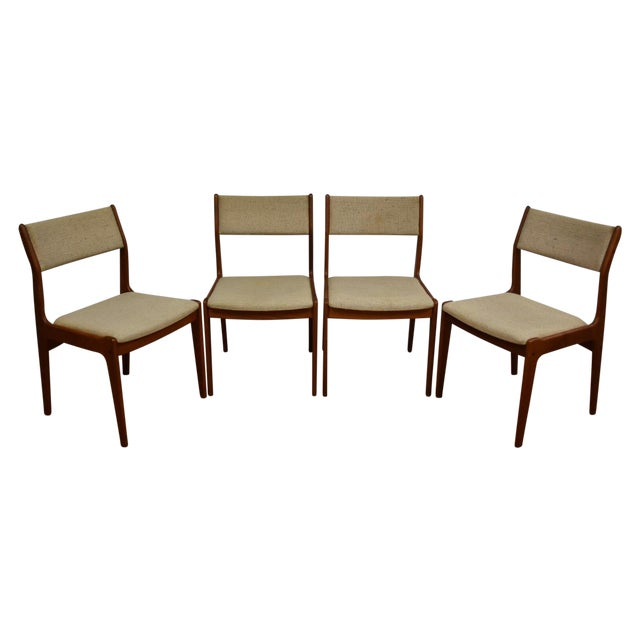 Teak Dining Chairs - Set of 4 - Image 1 of 11
