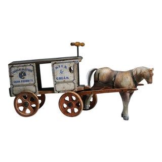 Golden Pasture Milk Wagon Riding Toy