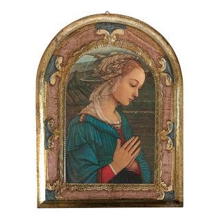 Italian Florentine Religious Wall Plaque