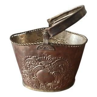 Vintage Silver Decorative Milagros Heart Basket