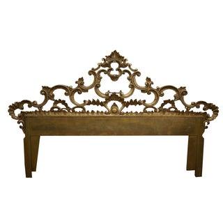 Gilt Metal Ornate Rococo Style Headboard