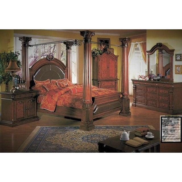 Luxury Cherry Tv Armoire & Dresser Set - Image 11 of 11