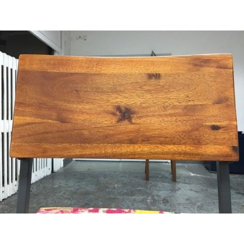 West Elm Rustic Counter Stools - A Pair - Image 11 of 11