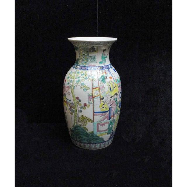 Chinese Color Figure Gathering Porcelain Vase - Image 3 of 6