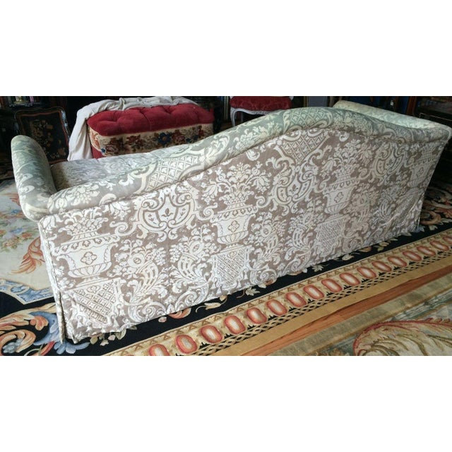 Fortuny Covered Camel-Back Sofa with Rolled Arms - Image 5 of 10