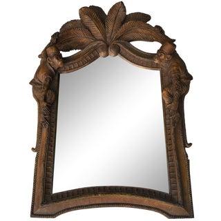 Burnished Wood Tropical Monkey Mirror