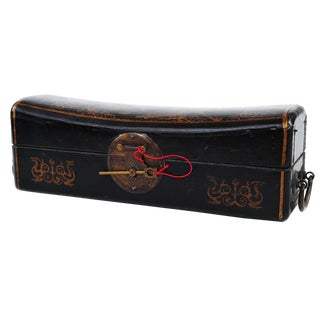 19th Century Chinese Pillow Lacquered Money Box