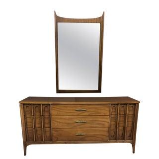"""Vintage Kent Coffey """"Town House"""" Dresser/Credenza & Mirror"""