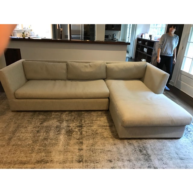 Gray Leather Sofa Restoration Hardware: Restoration Hardware Light Gray Sectional