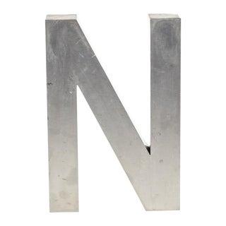 Aluminum N Letter