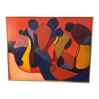 Mid-Century Modern Figurative Abstract Painting