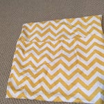 Image of Yellow Chevron Pillow Covers - A Pair