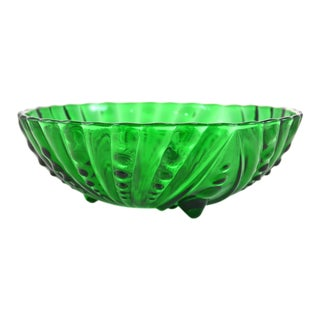 Emerald Green Footed Bowl