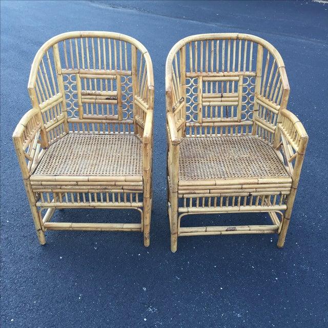 Image of Vintage Rattan Bamboo Brighton Pavilion Chair - 2