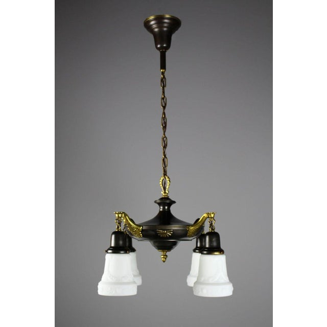 Two-Tone Colonial Revival Light Fixture (4-Light) - Image 2 of 8