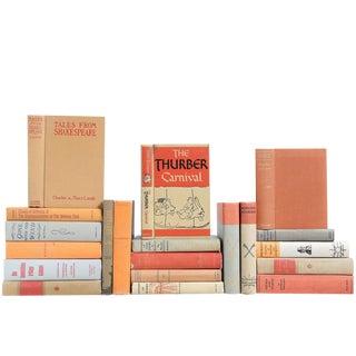 Mid-Century Melon & Stone Classics Books- Set of 20