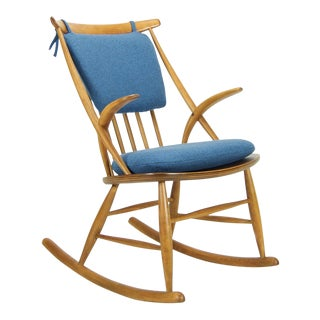 Illum Wikkelso for Niels Eilersen Danish Modern Rocking Chair