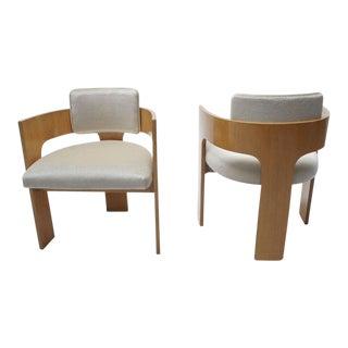 Mid-Century Mohair Club Chairs - A Pair