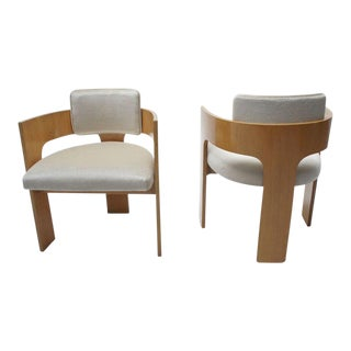 Mid-Century Mohair Club Chairs - A Pair