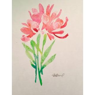 """Pink Bunch"" Original Watercolor Painting"