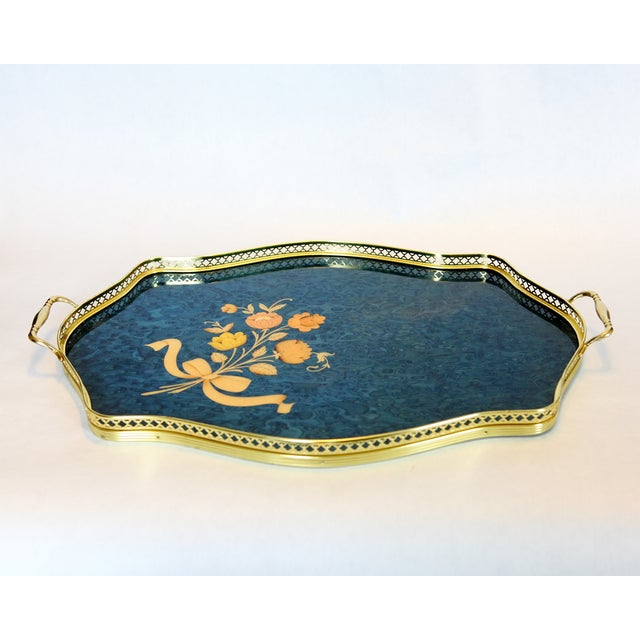 Image of Vintage Italian Marquetry Tray