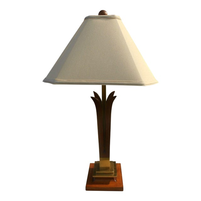 Image of MCM Frederick Cooper Walnut Table Lamp