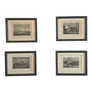 Fullerton 1850's Monument Building Lithographs - Set of 4