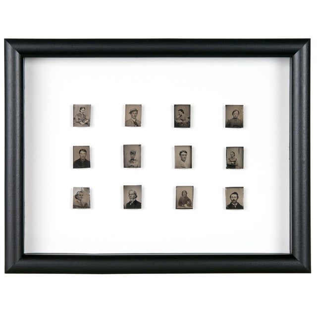 Antique Framed Daguerreotype Portraits - Set of 12 - Image 1 of 2