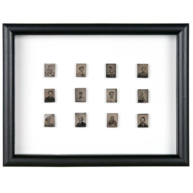 Image of Antique Framed Daguerreotype Portraits - Set of 12