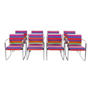 Chromatic and Vibrant Conference or Dining Chair Set in Alexander Girard Fabric