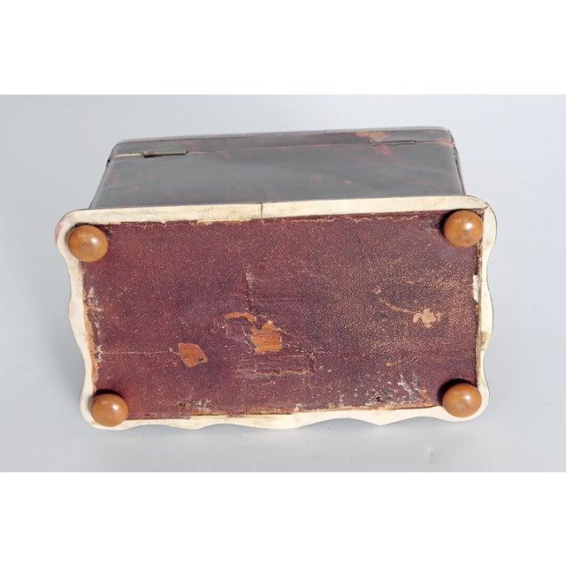 Tortoise Shell Tea Caddy - Image 10 of 11