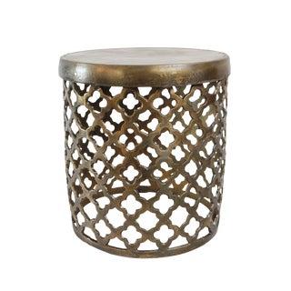 Moorish Brass Side Table/Stool