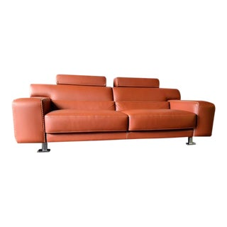 Modern Roche Bobois Leather Sofa