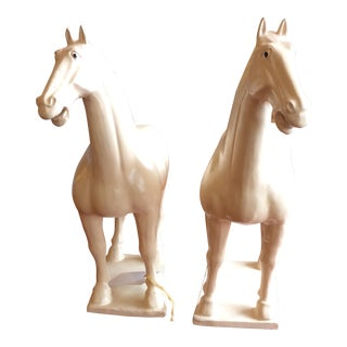 Decorative Ceramic Horses - A Pair
