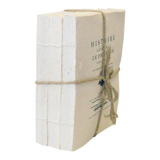 Sarreid Ltd. XVII White Paper Books - Set of 3