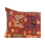 Image of Antique Embroidered Textile Pillow