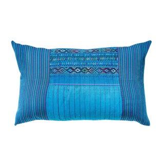 Vintage Guatemalan Bright Blue Pillow