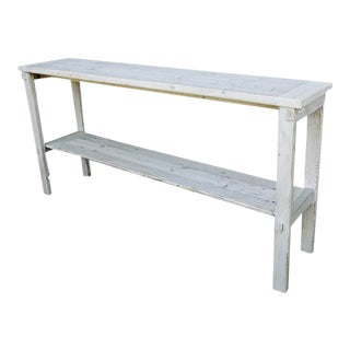 Cottage Whitewashed Reclaimed Wood Rustic Distressed Console by Darvo