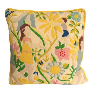Hide and Seek Needlepoint Pillow