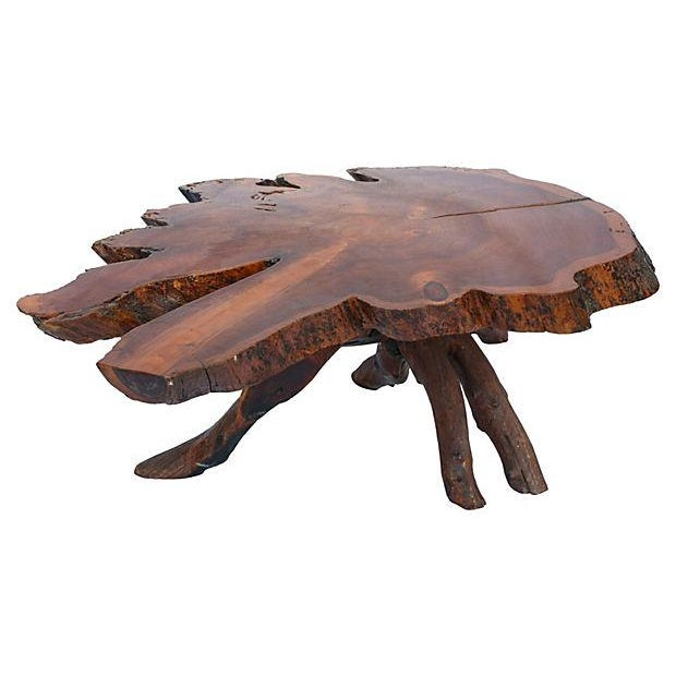 Redwood Coffee Table: Redwood Live-Edge Coffee Table