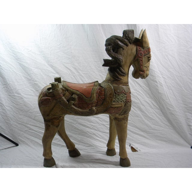 Large Indonesian Carved Horse - Image 2 of 6
