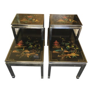 Pair of Chinoiserie Signed Katherine Henick Side Table