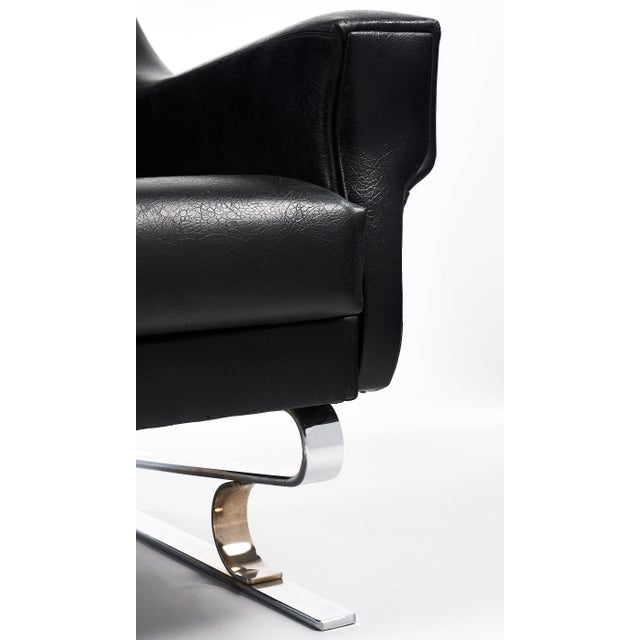 Pair of Vintage French Mid-Century Modern Armchairs - Image 9 of 10
