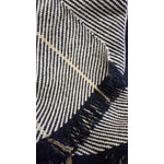 Image of Modern Cream & Black Gila Cotton Throw