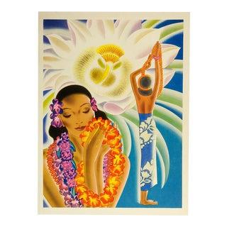 1941 Vibrant Hawaiian Graphic Menu