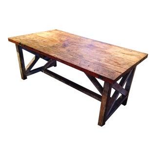 American Primitive Rustic Farm Table